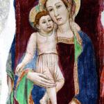 Dipinto madonna e bambino